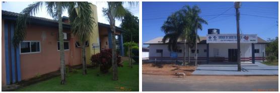 Unidade de Saúde de Sorriso antes e depois da reforma